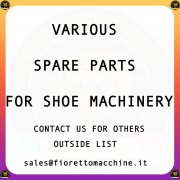Various machinery spare parts for shoes industry