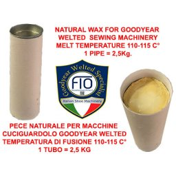 NATURAL WAX FOR GOODYEAR WELTED SEWING MACHINERY