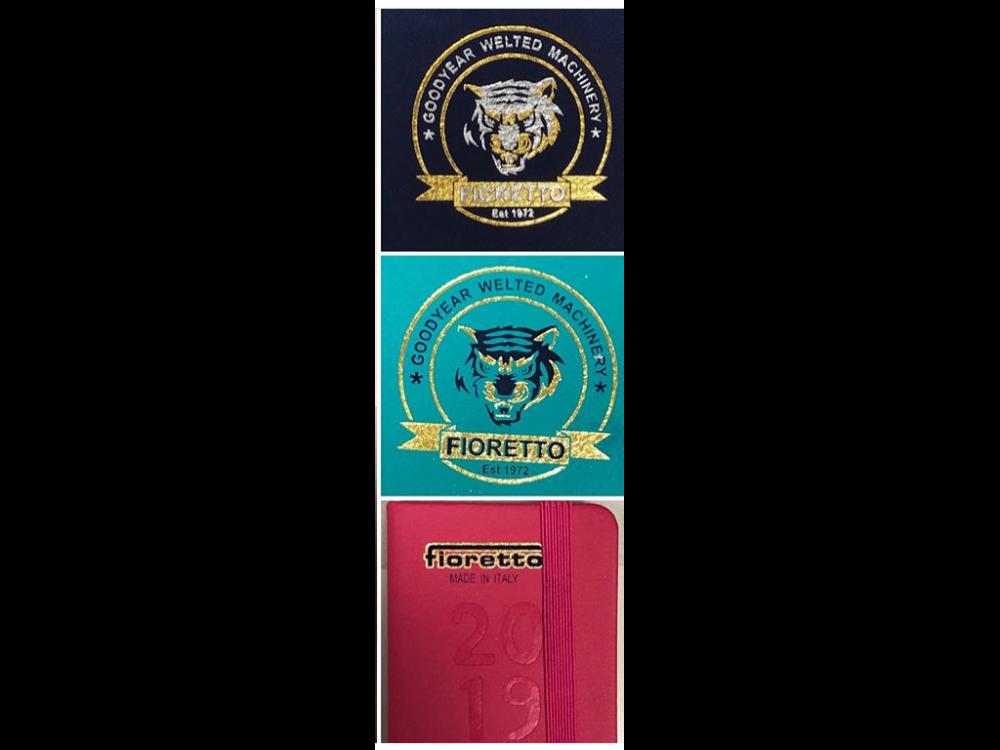 bicolor logo stamping